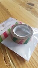 "Queen & Co Washi Trendy Tape! ""Christmas Stripe"" 10 yards each roll!"