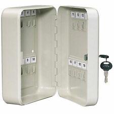 Wall Mounted Lockable Key Cabinet Safe Box 20 Key Hooks Metal Storage