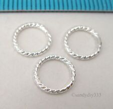 10x STERLING SILVER CLOSED TWIST ROUND JUMP RING JUMPRING 8mm 1mm  #473