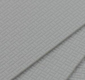ABS50 4pcs ABS Styrene Plasticard Wall Floor Brick Sheet 215mm x 300mm White