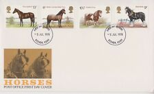 UNADDRESSED GB ROYAL MAIL FDC 1978 HORSES STAMP SET DOVER PMK