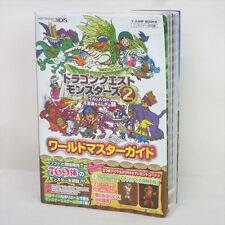 DRAGON QUEST MONSTERS 2 World Master Guide w/Map 3DS Book VJ10*