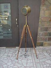 Hollywood Vintage ANTIQUE Floor Lamp Studio Spot Light E 27 Tripod Search light