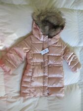 NWT BABY GAP TODDLER GIRL PINK COLD CONTROL MAX PUFFER LONG COAT - SIZE 3 -