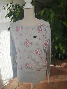 Naketano leichter Pullover Pulli Shirt Gr L / XL 🌷🌼🌻 Blumen