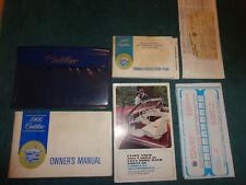 1966 CADILLAC OWNER'S MANUAL SET / GOOD ORIGINAL MULTI-PIECE SET!
