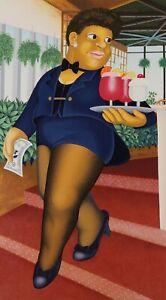 """Cocktails for Three"" Beryl Cook Silkscreen L/ E  Print"