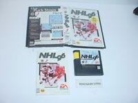 NHL 96 Hockey game complete in case w/ manual - Sega GENESIS system