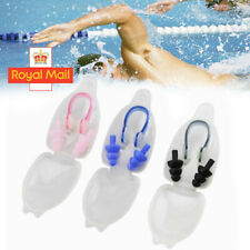 Silicone Ear Plugs & Nose Clip Set With Box Case Swimming Water Pool Sea New