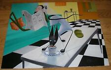 NEW YORK CITY NY SIAMSE CAT MUSICIAN BEATNIK COFFEE DRINKING NEWSPAPER PAINTING