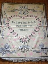 Wedding bells Keepsake Throw New