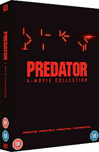 """PREDATOR 1-4 COMPLETE MOVIE COLLECTION 4 DISC DVD BOX SET R4 """"NEW&SEALED"""""""