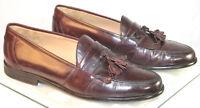 Johnston Murphy Brown Kiltie Tassel Loafers Men's  Size 13 M Dress Shoes Merlot
