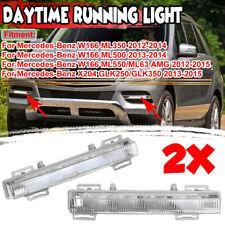 For Mercedes W166 ML350 ML500 ML550 Front DRL Fog Light Lamp Left & Right