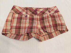 Charlotte Russe Junior's Women's Shorts Size 5 short shorts Plaid Berry GUC
