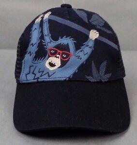 NWT Gymboree Cool Jungle Monkey Blue Trucker Hat Cap Toddler boys 0 - 12 Months