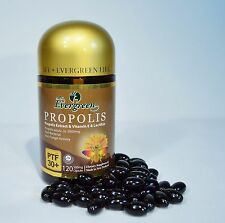 EVERGREEN BEE PROPOLIS PTF 30+ 120 CAPSULES MADE IN NEW ZEALAND