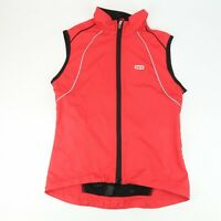 NEW! Louis Garneau Vent 2 Cycling Full Zip Vest Womens Size S Red Black