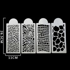 Set Of 4 Stencils Crafts Templates Scrap Booking Animal Print
