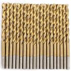 Drillforce 20PCS 1/8' Titanium Drill Bits Set HSS Jobber Metal Wood Drill Bit