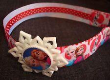 Frozen Movie Ribbon Headband Resin Snowflake Charm Ice Princess Anna Queen Elsa