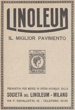 Z2713 LINOLEUM il miglior pavimento - Pubblicità d'epoca - 1923 old advertising