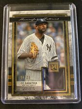 2020 Topps Museum Collection CC Sabathia Game Used Patch /25 Yankees