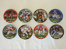 NFL Super Bowl QBs SET of EIGHT Plates - Montana, Namath, Griese - w/ COA & Box
