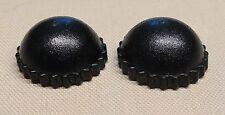 x2 NEW Lego Black Minifig Headgear Cap Knit Hat For City Town Minifigures