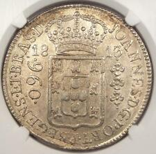 New listing 1813-R Brazil 960 Reis (960R) - Ngc Ms62 - Rare Bu Unc Certified Coin