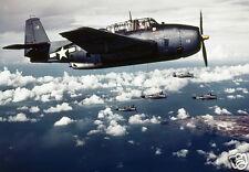 "US Air Force Planes Attack Japanese Held Wake Island Nov 1943 World War 2, 7x5"""