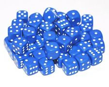 50 Blue Dice, 12mm , D6 (6 sided)