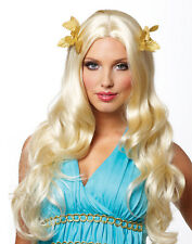 Sexy Blonde Roman Greek Goddess With Wreath Womens Halloween Costume Wig