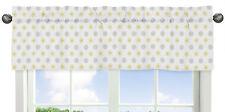 Floral Window Valance Curtain For Sweet Jojo Yellow Grey Mod Garden Girl Bedding