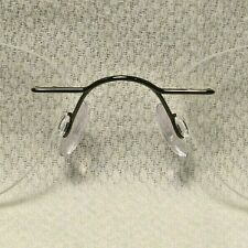 """Silhouette 7395 Pewter 21mm Drill Rimless Eyeglass Frame """"NOSE PIECE  PART"""""""