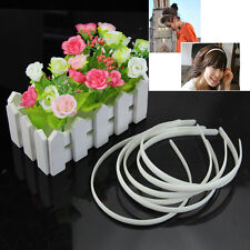 12pc of Lot Fashion Plain Lady Plastic Hair Band Headband No Teeth Hair DIY Tool