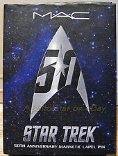 Star Trek 50th Anniversary M.A.C. SILVER-TONE MAGNETIC COMMUNICATOR BADGE ~ QMx