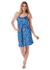 Ladies Satin Chemise Strappy Short Nightdress Negligee Set  Size UK 8 - 22
