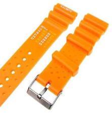 "22mm Rubber Orange Sport Diver Watch Strap Band ""ND Limits"" R157"