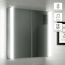 LED Bathroom Mirror Illuminated Bluetooth Speaker Shaver Socket Cabinet 600x650