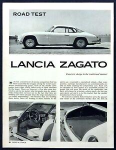 1961 Lancia Zagato Coupe Road Test Technical Data Review Article