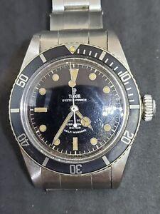 Ultra Rare 1958 Tudor Submariner Big Crown Ref. 7924 No Crown Guard Divers