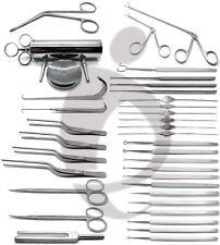 ENT Curettes Tweezers Forceps Retractors Probes Scissors Instruments Set of 35
