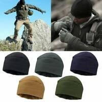 Men Women Winter Warm Stretchy Fleece Beanie Hat Watch Cap Military Tactical Cap