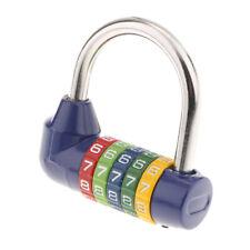 5 Digit Dial Combination Number Code Lock Padlock Suitcase Luggage Blue