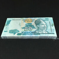 MALAWI 50 Kwacha X 100 PCS 2016 P-64 NEW Full Bundle UNC Uncirculated