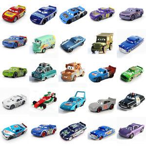 Disney Pixar Cars 1:55 Sheriff McQueen Diecast Metal Race Car Kids Gift Toys IT