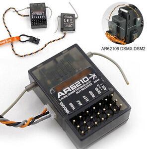 US AR6210 DSMX 6 Channel Receiver RX Support DSM2 for Spektrum Transmitter TX RC