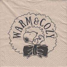 2 Lunch Paper Servietten Napkins (ooF11)  Snoopy  Warm und Cozy