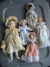 Lot 5 Porcelain collector dolls Royal Doulton Gorham doll of the month  + Avon